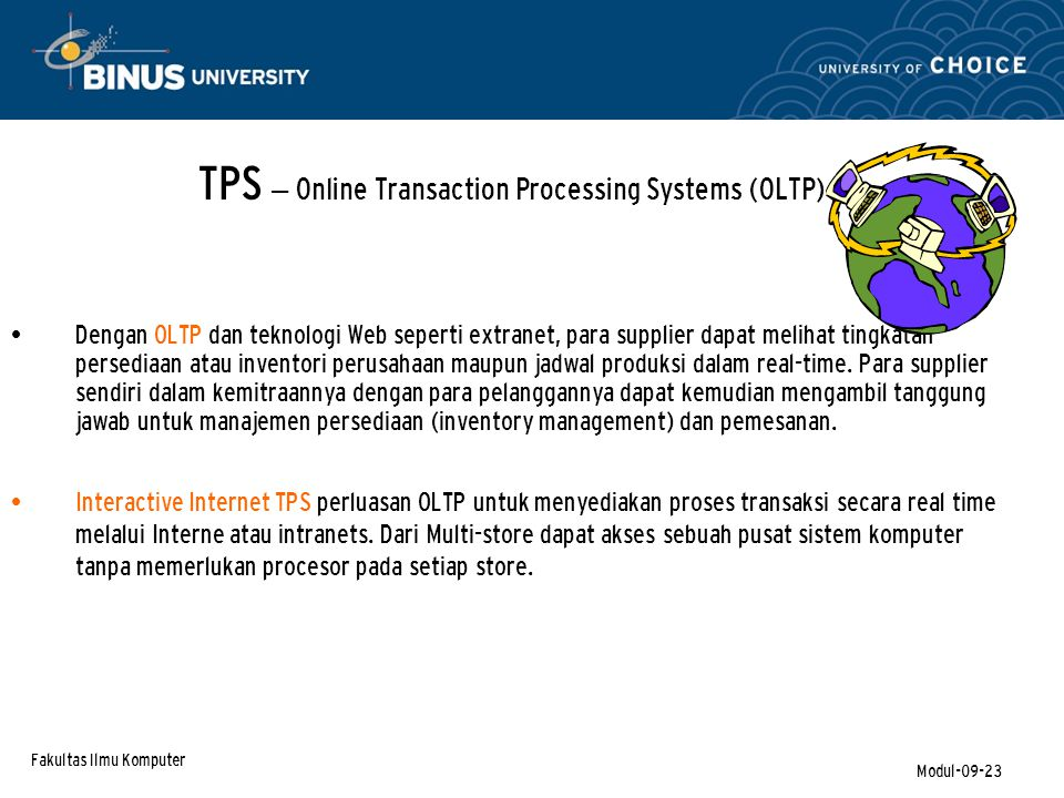 TPS – Online Transaction Processing Systems (OLTP)