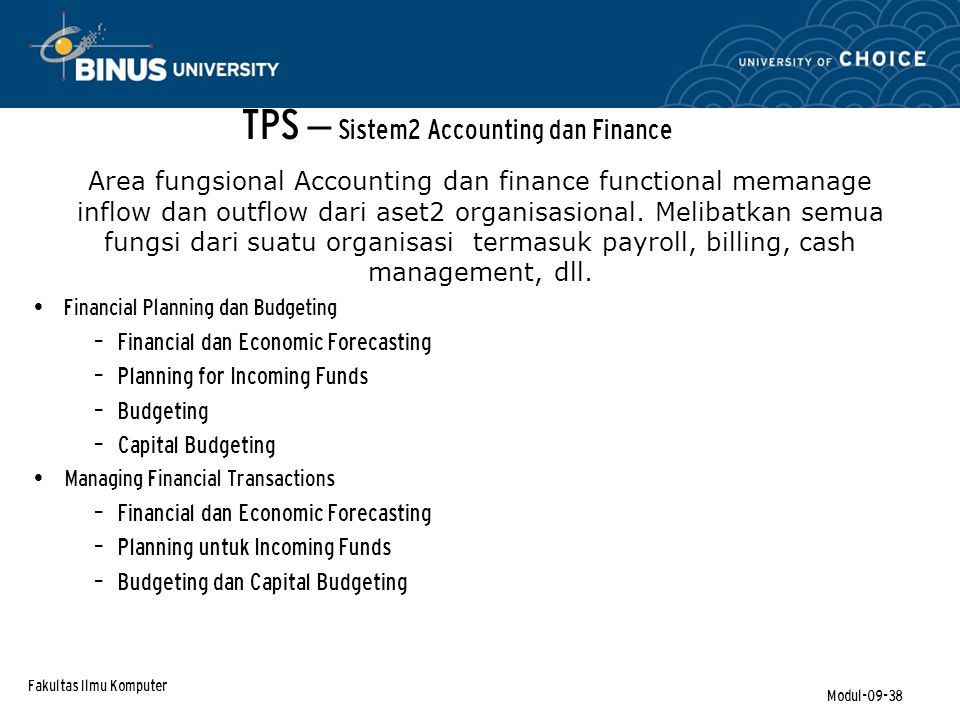 TPS – Sistem2 Accounting dan Finance