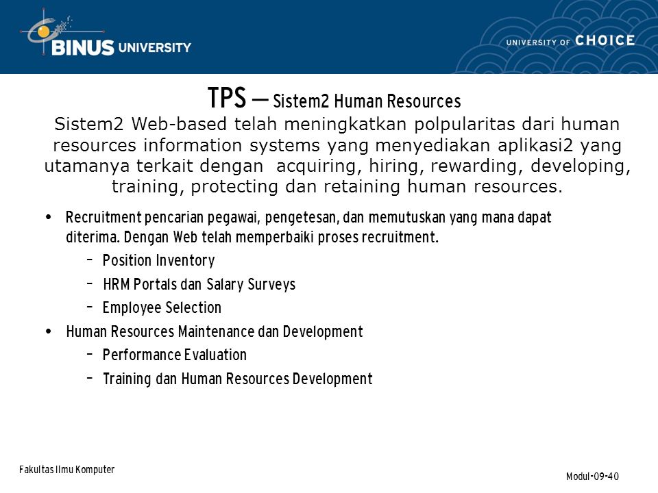 TPS – Sistem2 Human Resources