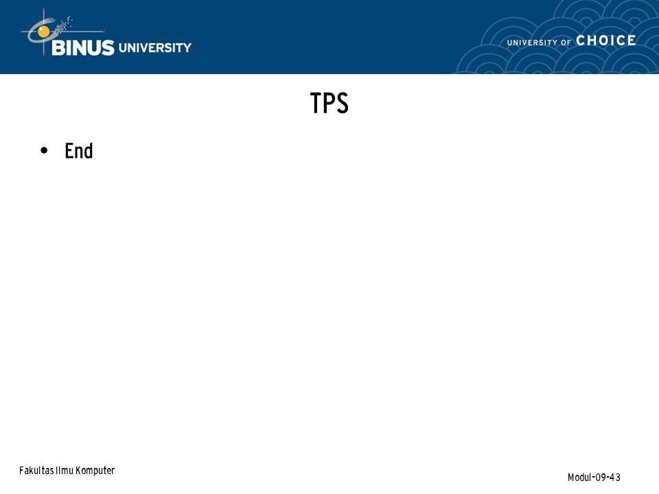 TPS End Fakultas Ilmu Komputer