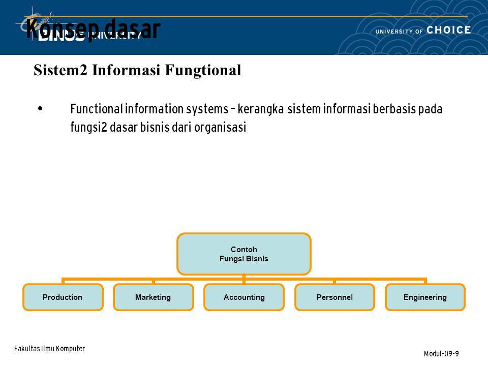 Konsep dasar Sistem2 Informasi Fungtional