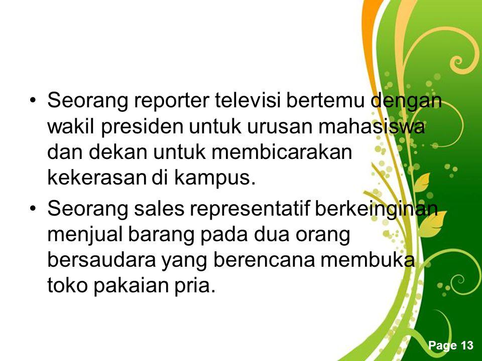 Seorang reporter televisi bertemu dengan wakil presiden untuk urusan mahasiswa dan dekan untuk membicarakan kekerasan di kampus.