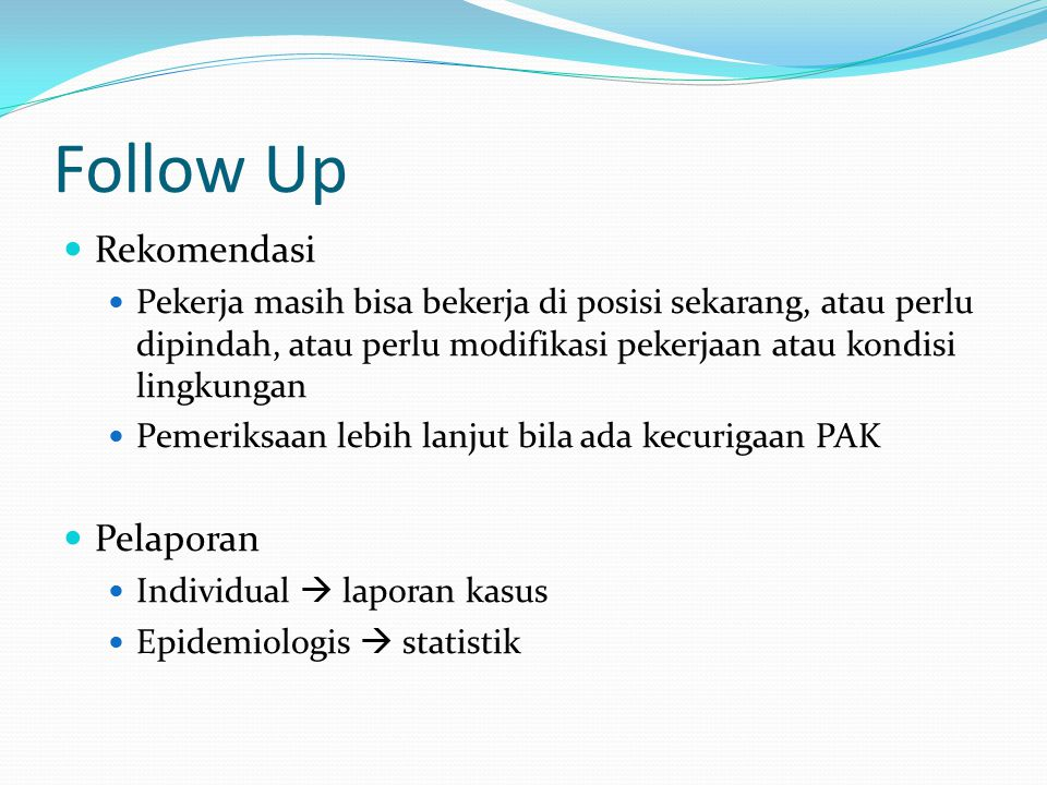 Follow Up Rekomendasi Pelaporan