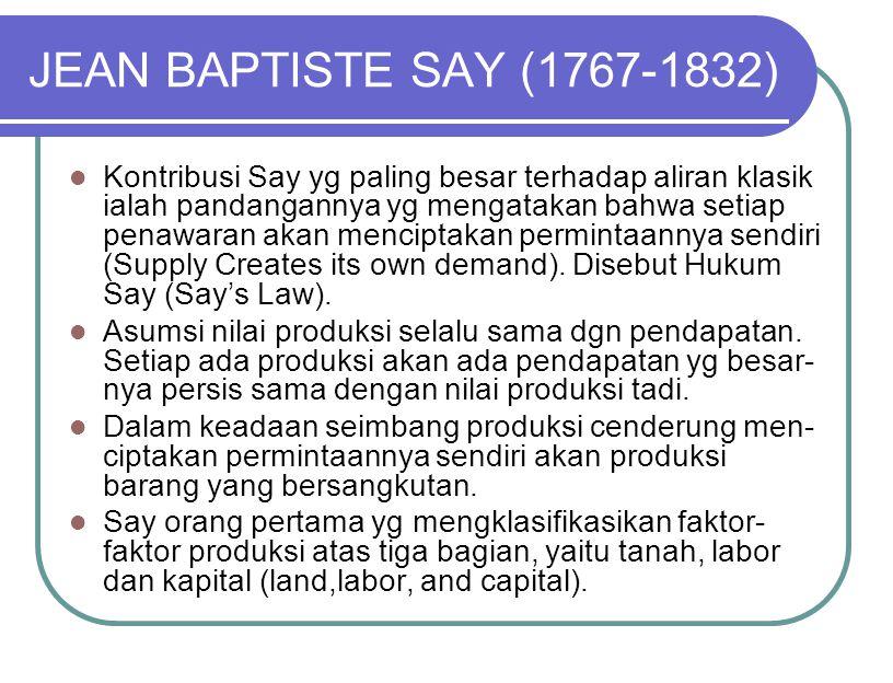 JEAN BAPTISTE SAY (1767-1832)