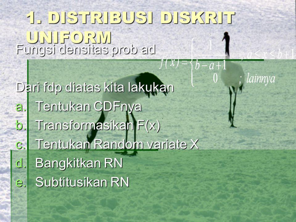 1. DISTRIBUSI DISKRIT UNIFORM