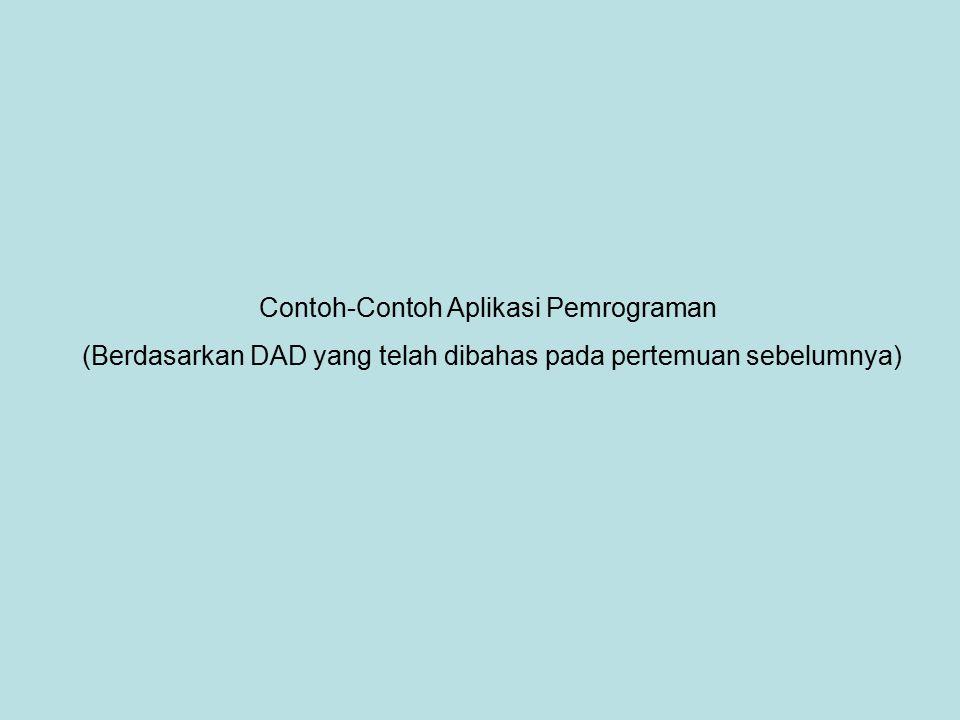 Contoh-Contoh Aplikasi Pemrograman