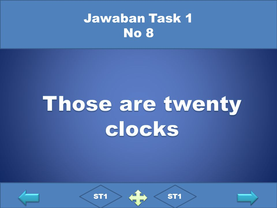 Those are twenty clocks
