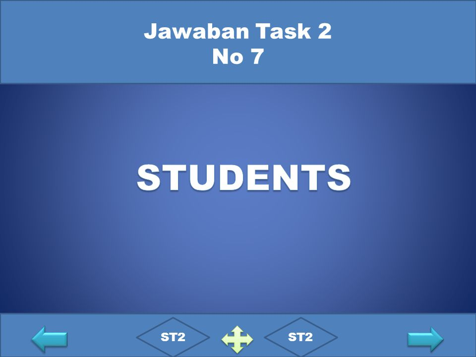 Jawaban Task 2 No 7 STUDENTS ST2 ST2