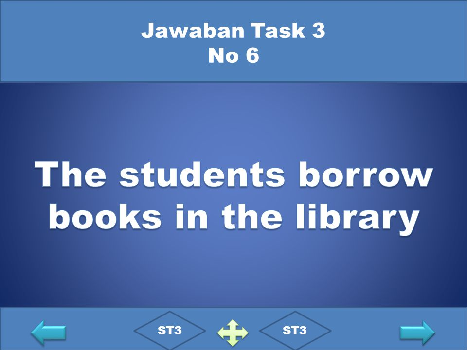 The students borrow books in the library