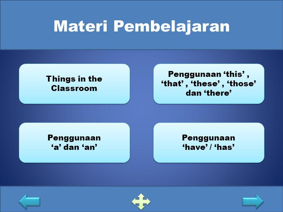 Materi Pembelajaran Things in the Classroom