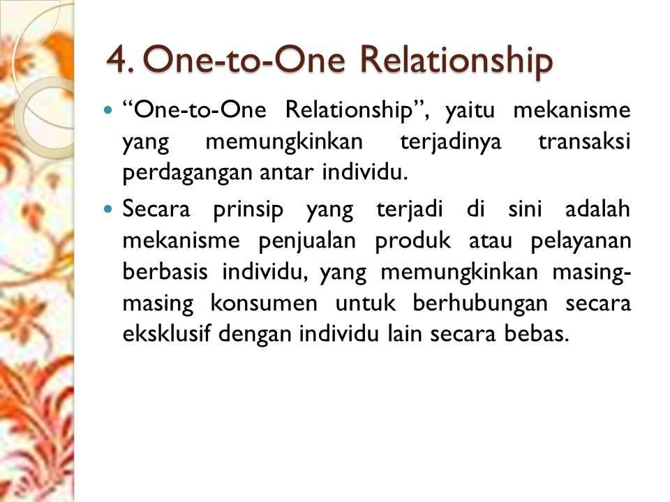 4. One-to-One Relationship