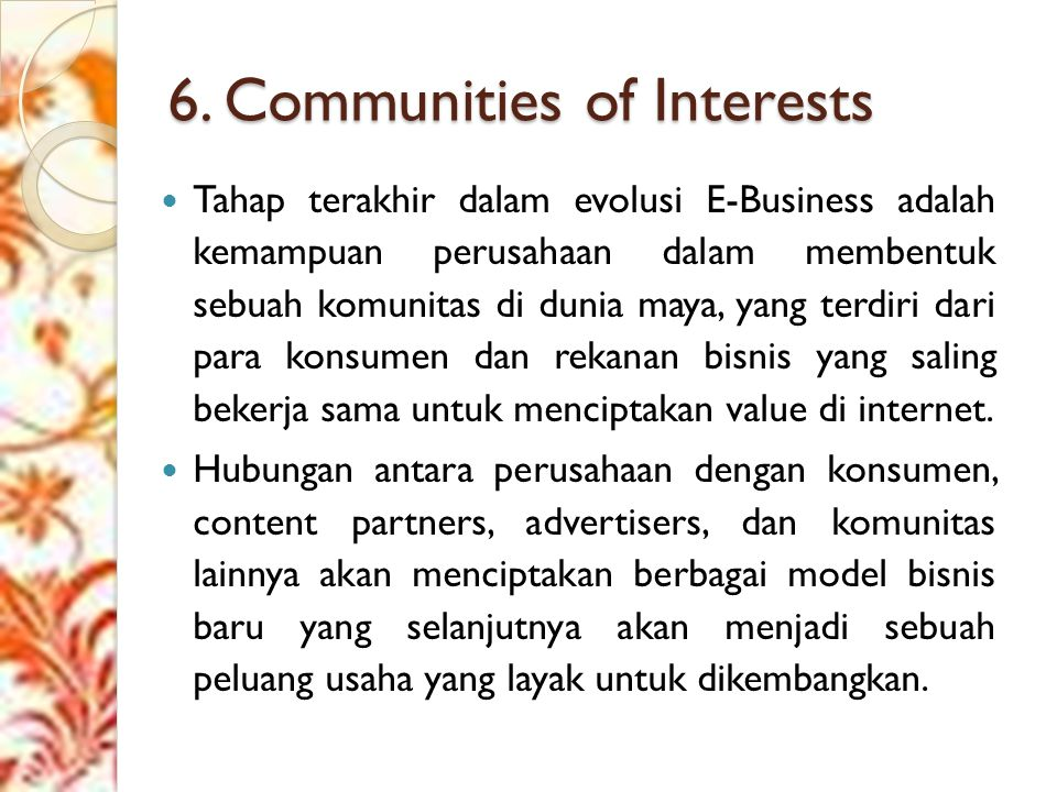 6. Communities of Interests