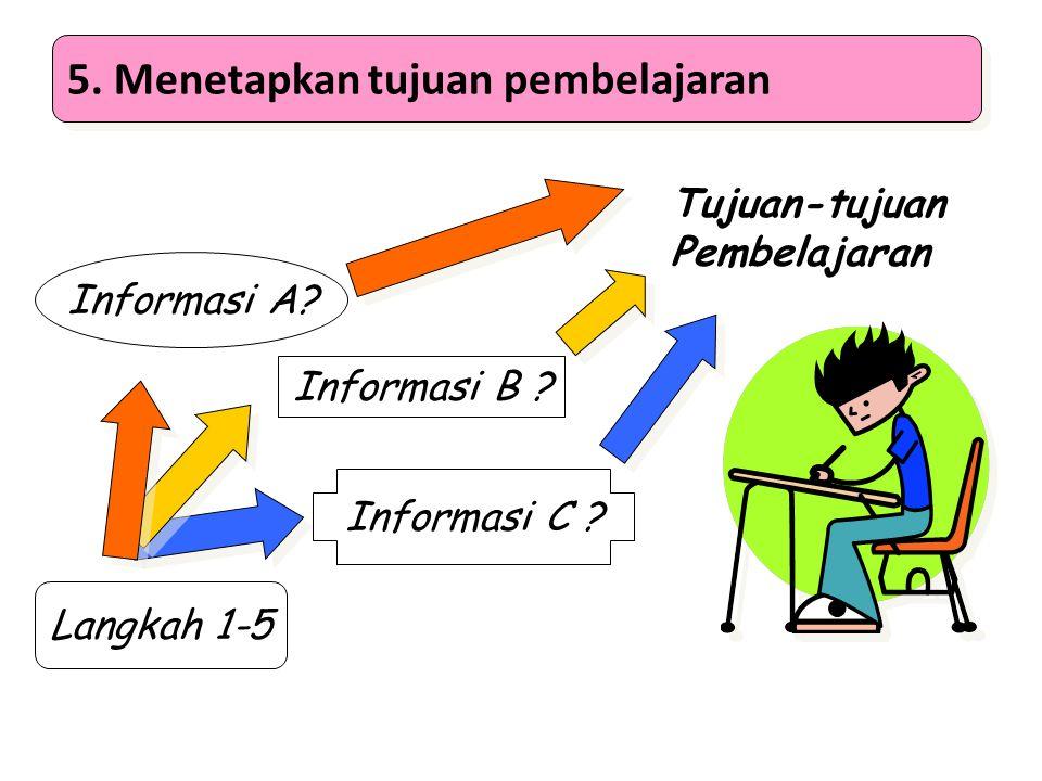 5. Menetapkan tujuan pembelajaran