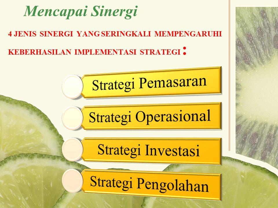 Strategi Pemasaran Strategi Operasional Strategi Investasi