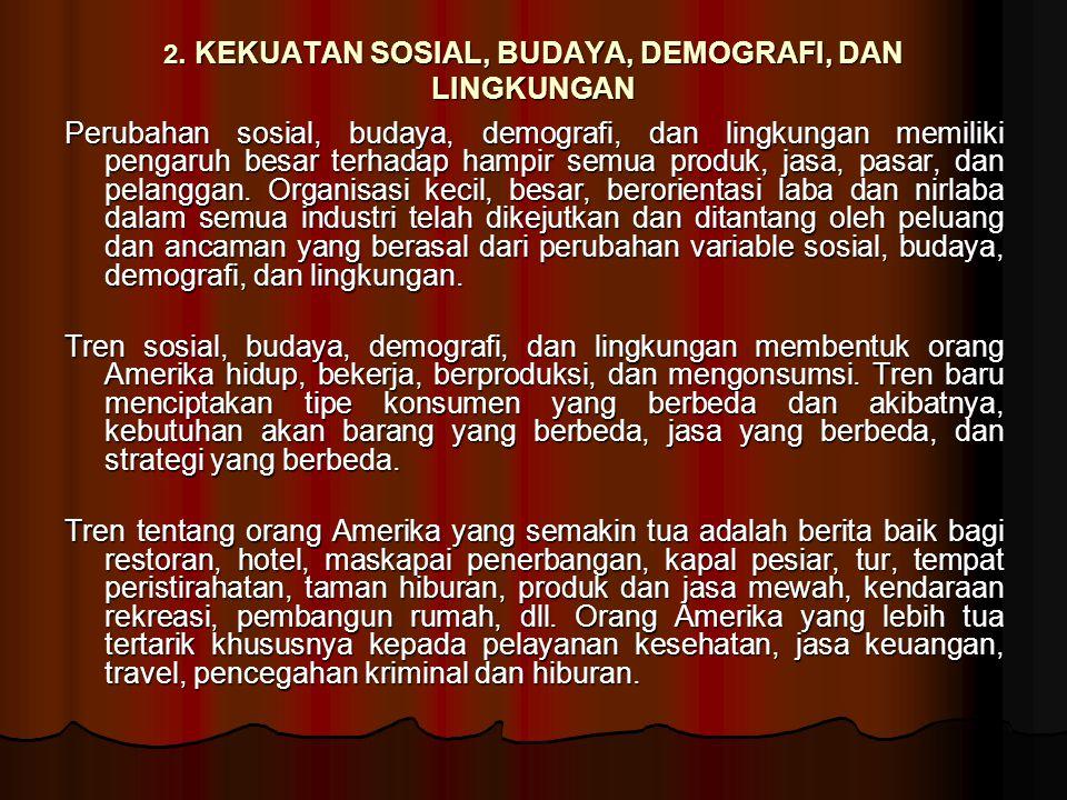 2. KEKUATAN SOSIAL, BUDAYA, DEMOGRAFI, DAN LINGKUNGAN