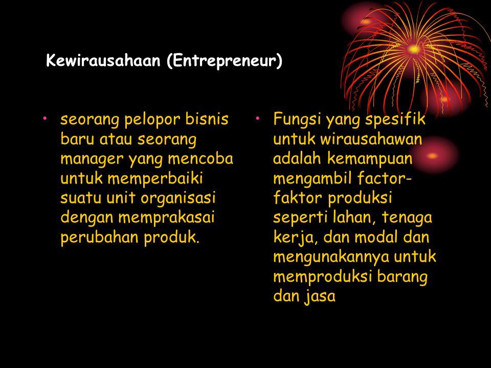 Kewirausahaan (Entrepreneur)