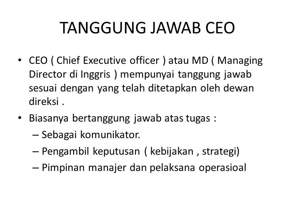 TANGGUNG JAWAB CEO