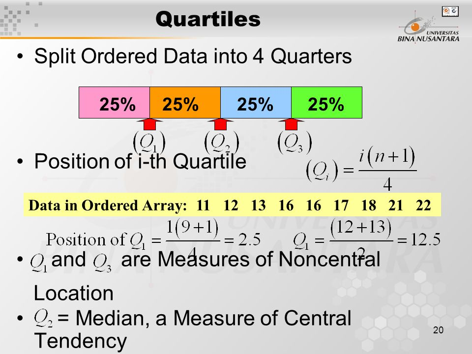 Split Ordered Data into 4 Quarters