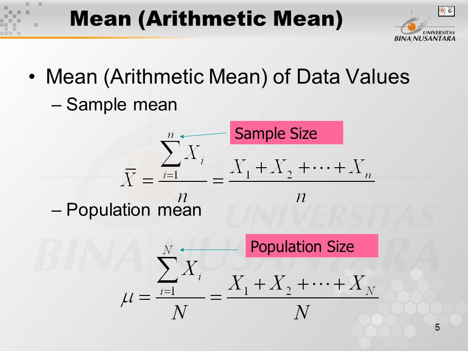 Mean (Arithmetic Mean)