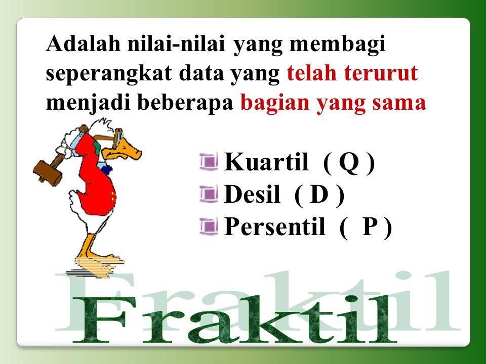 Kuartil ( Q ) Desil ( D ) Persentil ( P )