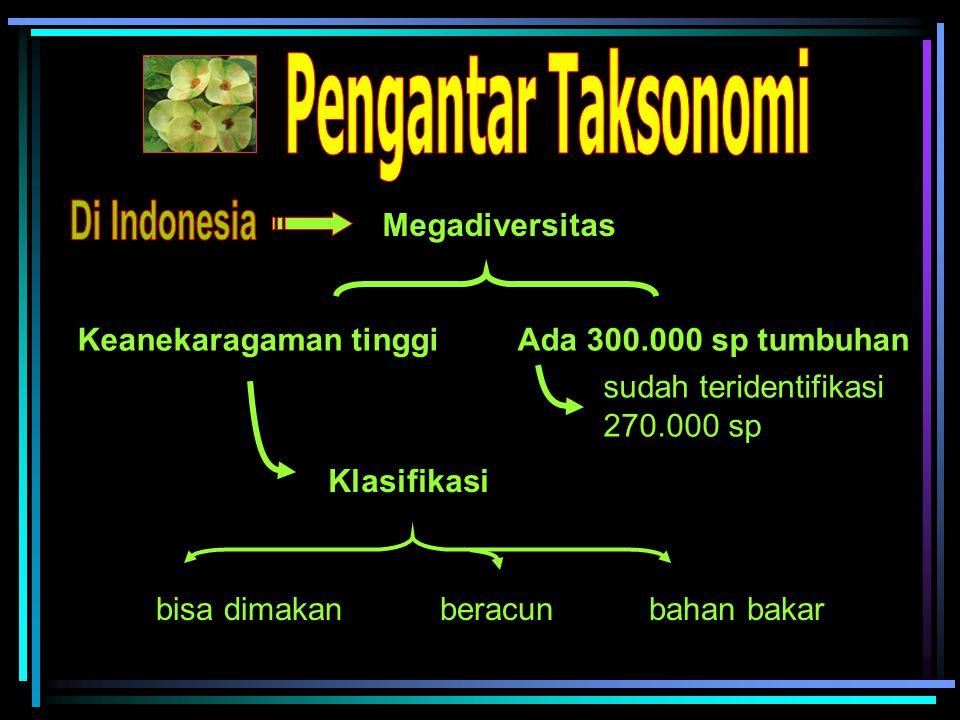 Pengantar Taksonomi Di Indonesia Megadiversitas Keanekaragaman tinggi