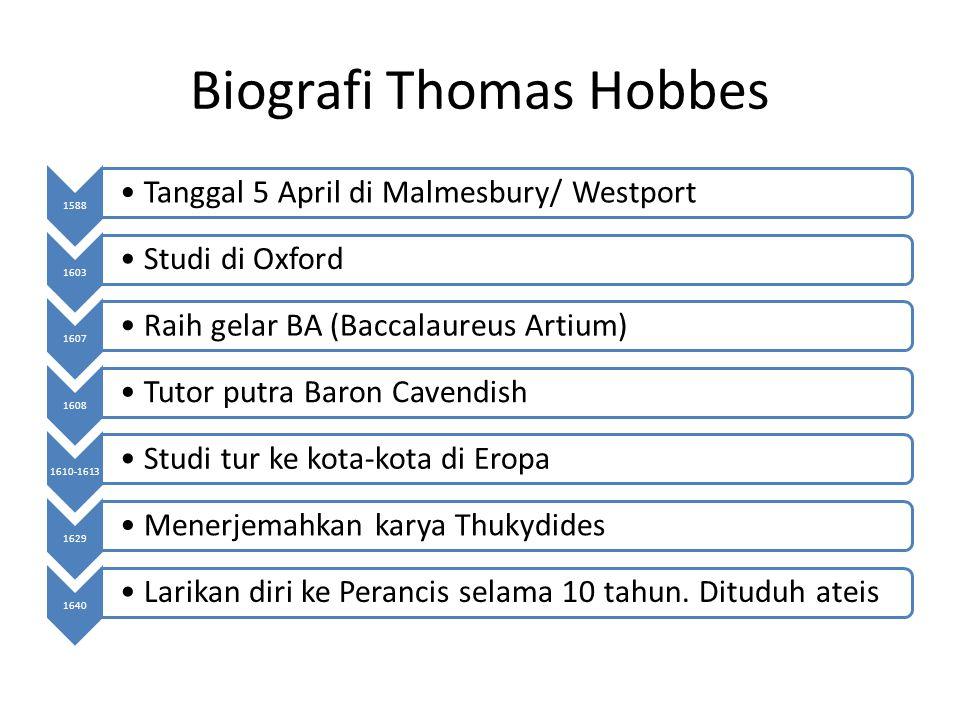 Biografi Thomas Hobbes