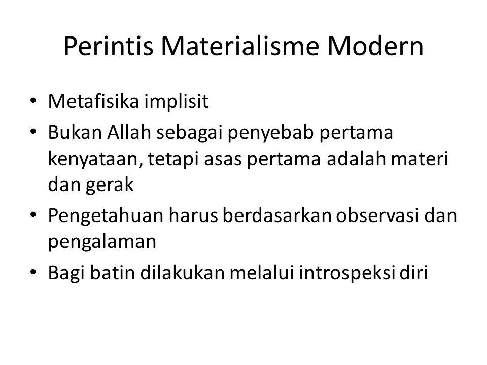 Perintis Materialisme Modern