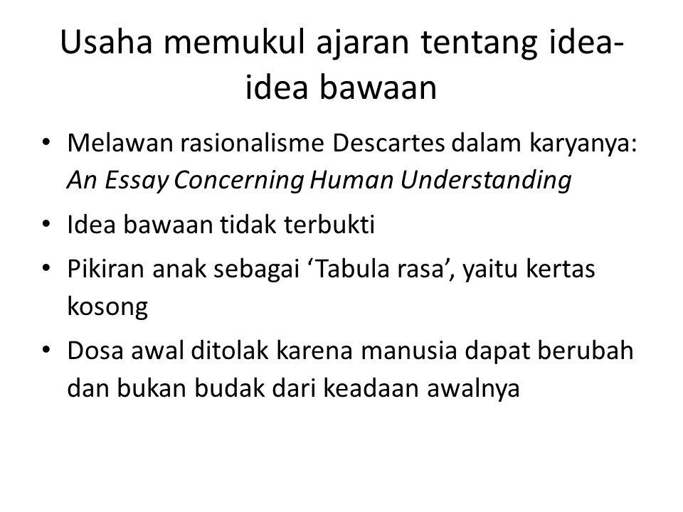 Usaha memukul ajaran tentang idea-idea bawaan