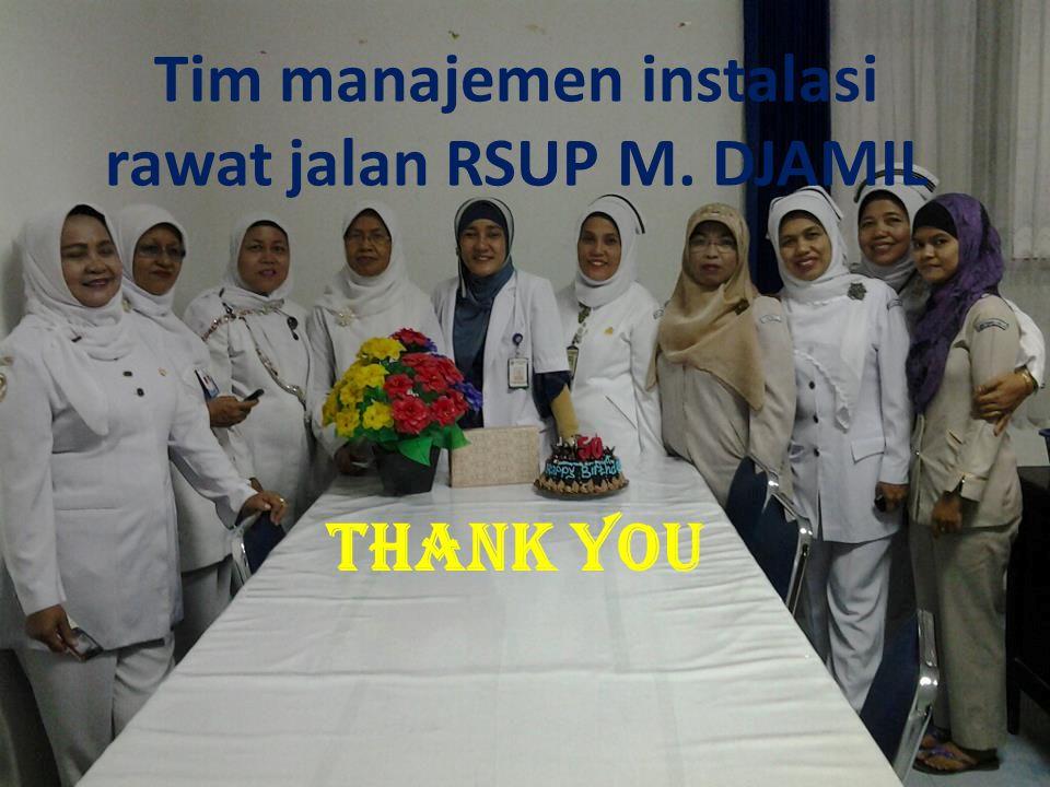 Tim manajemen instalasi rawat jalan RSUP M. DJAMIL