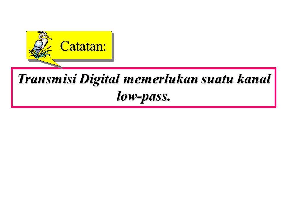 Transmisi Digital memerlukan suatu kanal low-pass.