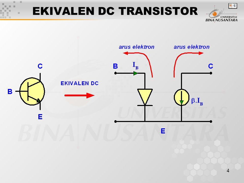 EKIVALEN DC TRANSISTOR