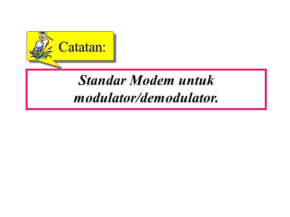 Standar Modem untuk modulator/demodulator.