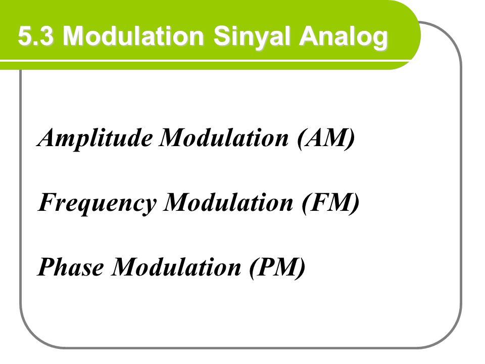 5.3 Modulation Sinyal Analog