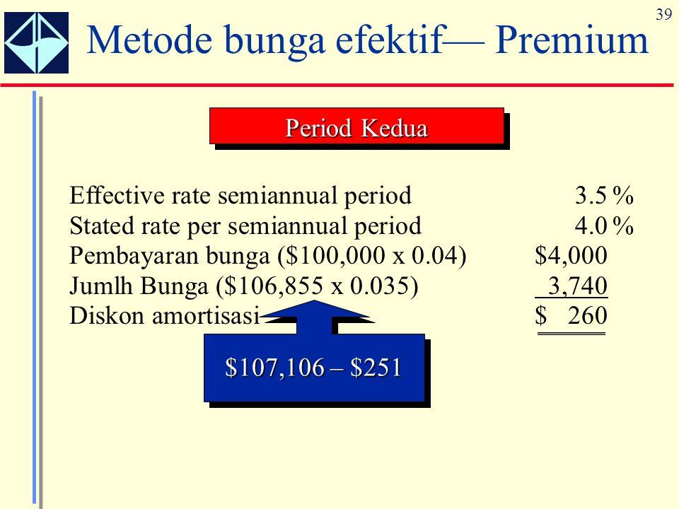 Metode bunga efektif— Premium