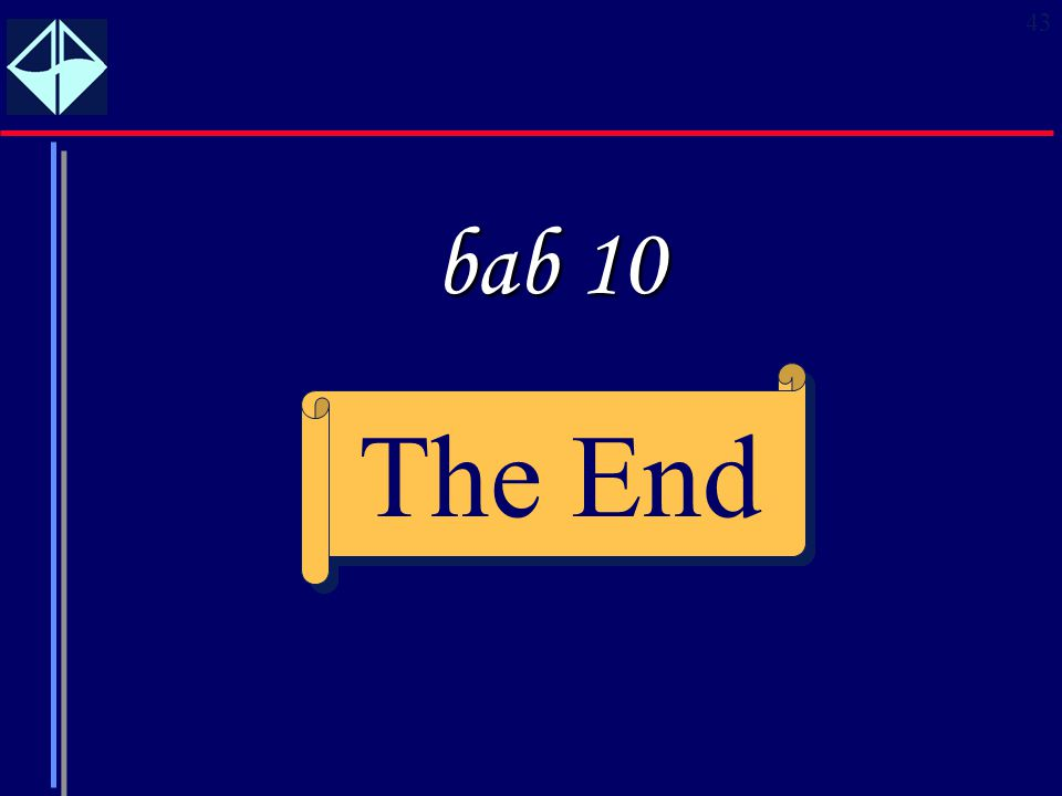 bab 10 The End