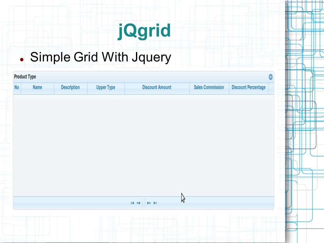 jQgrid Simple Grid With Jquery