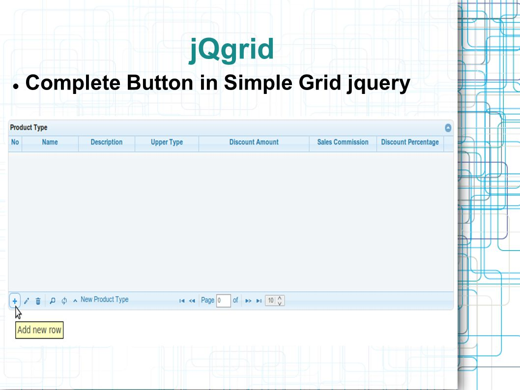 Complete Button in Simple Grid jquery