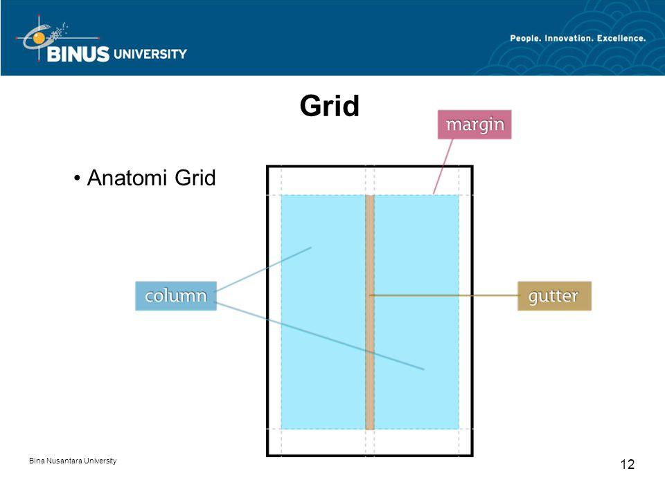 Grid Anatomi Grid Bina Nusantara University