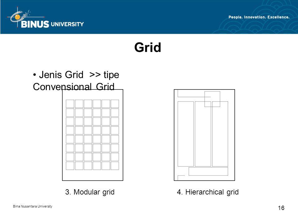 Grid Jenis Grid >> tipe Convensional Grid 3. Modular grid