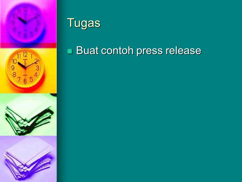 Tugas Buat contoh press release
