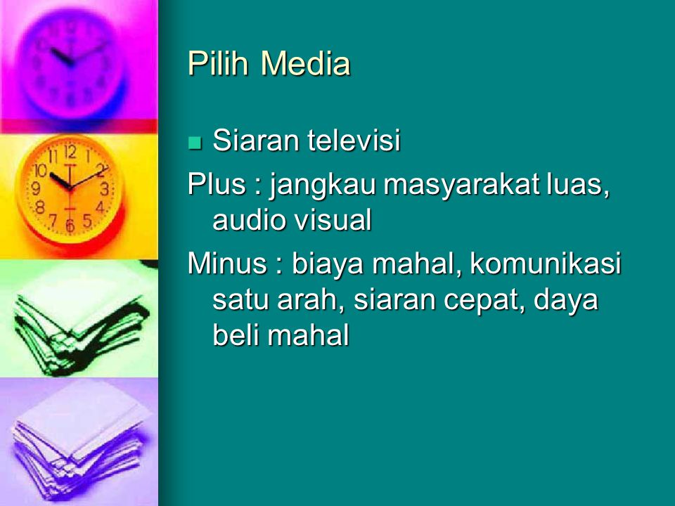 Pilih Media Siaran televisi