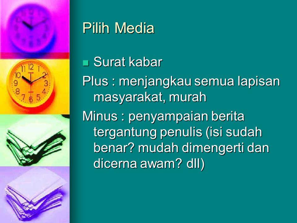 Pilih Media Surat kabar
