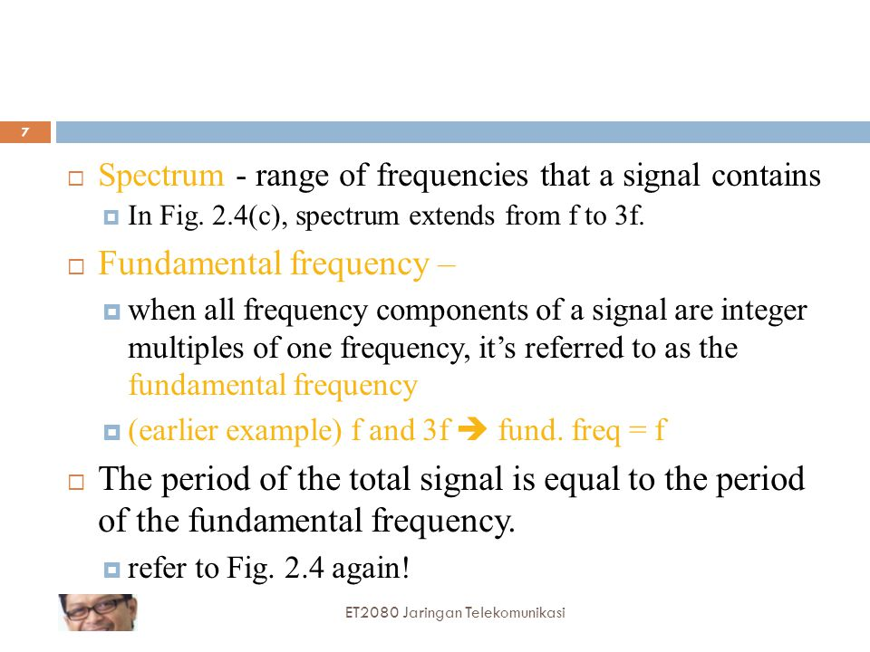 Fundamental frequency –