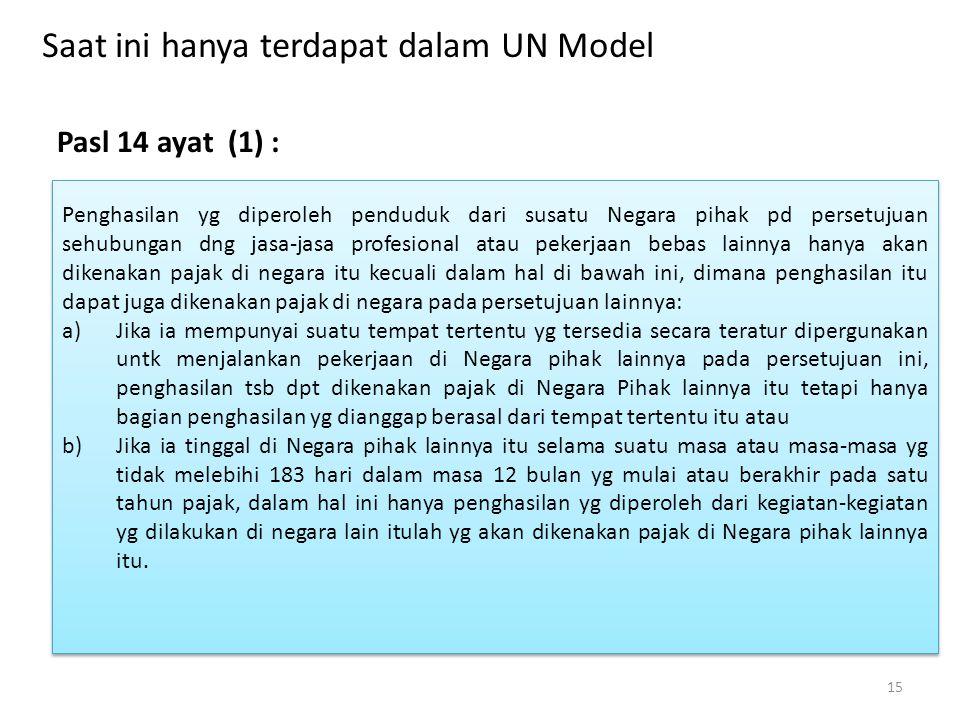 Saat ini hanya terdapat dalam UN Model