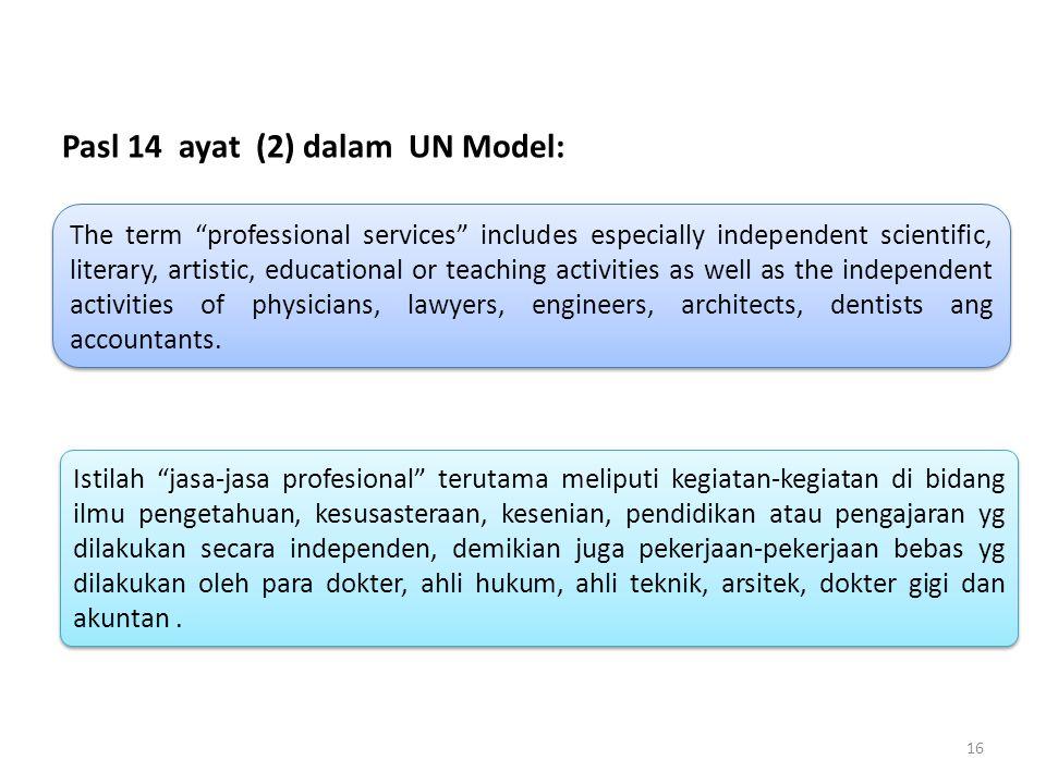 Pasl 14 ayat (2) dalam UN Model:
