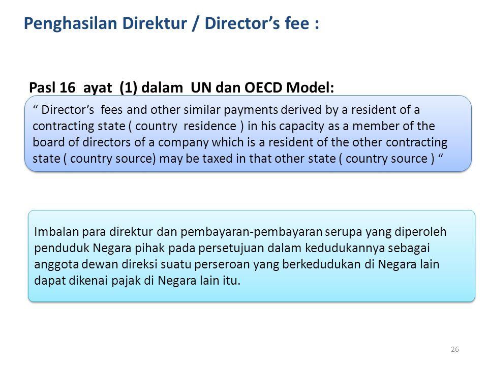 Penghasilan Direktur / Director's fee :