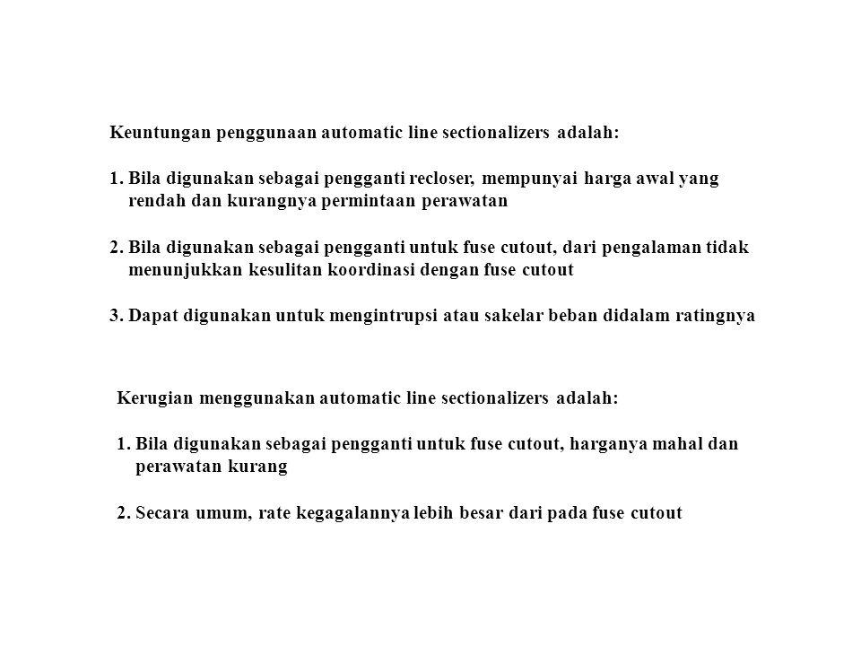 Keuntungan penggunaan automatic line sectionalizers adalah: