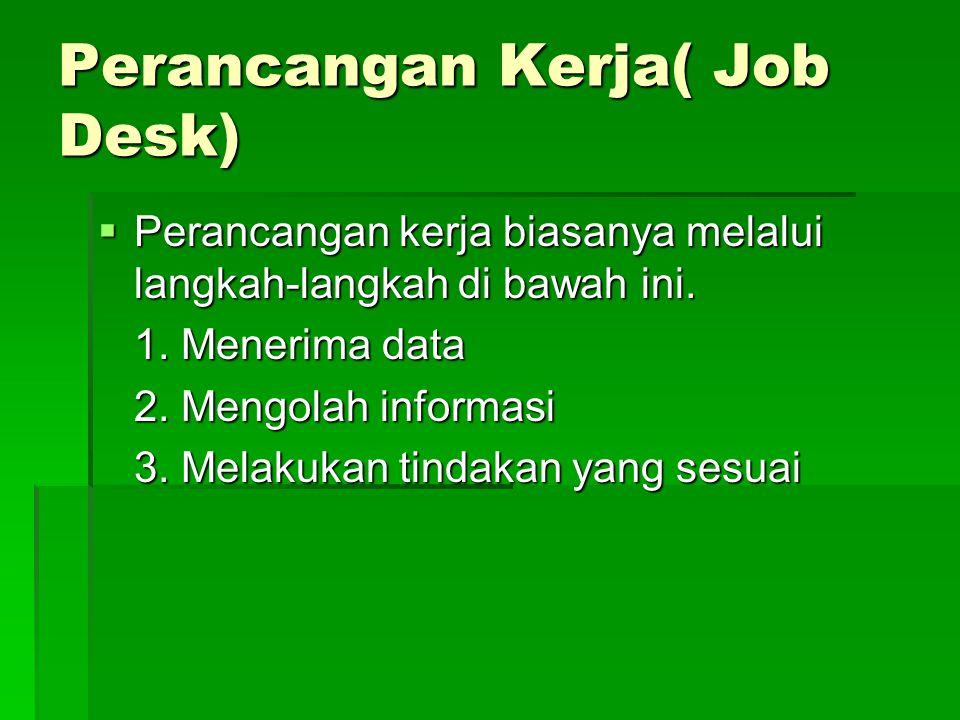 Perancangan Kerja( Job Desk)