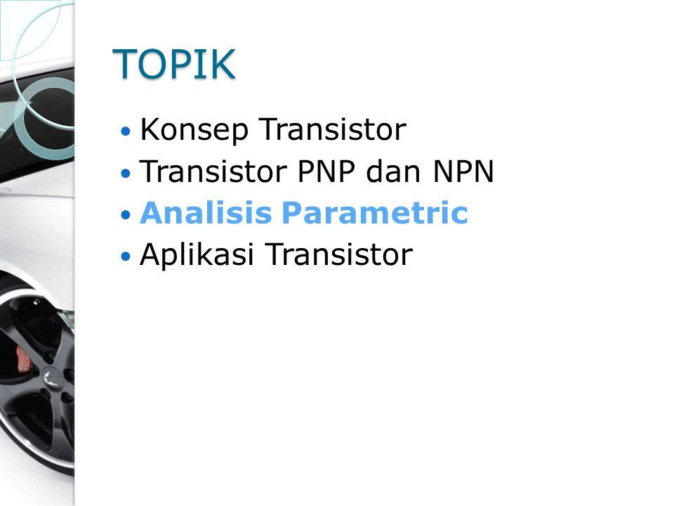 TOPIK Konsep Transistor Transistor PNP dan NPN Analisis Parametric