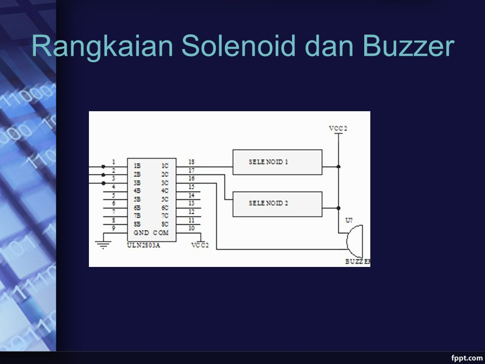 Rangkaian Solenoid dan Buzzer